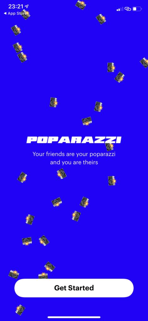 Poparazziのオンボーディングとトップ画面